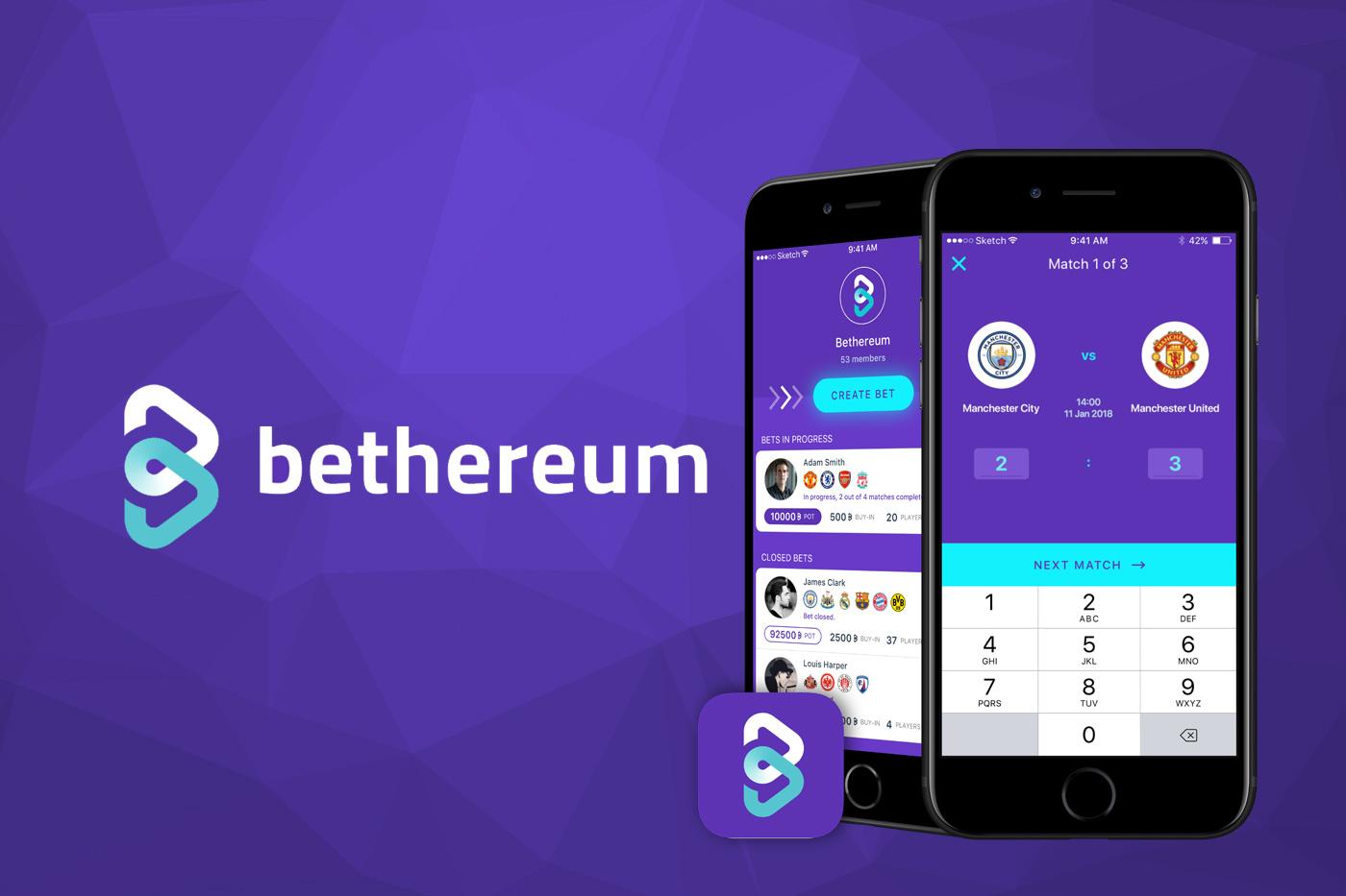 The Bethereum logo. Betherium is a blockchain based betting platform.