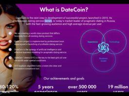 DateCoin infographic explaining core details