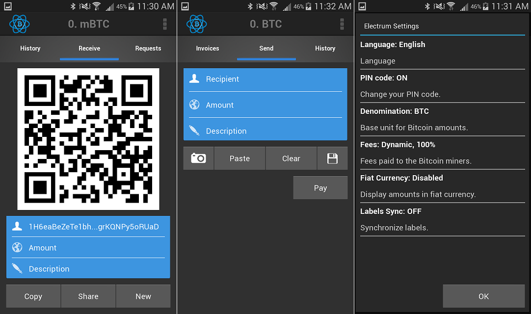 electrum-android-beta-screens